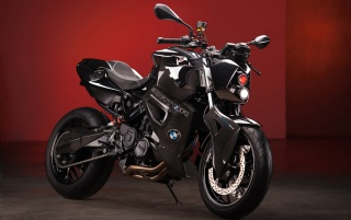 2012 Vilner Custom Bike BMW F800 R Predator Statische rotem Hintergrund wallpapers and stock photos