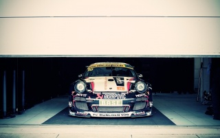Racing Porsche in the Garage wallpapers and stock photos