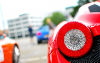 Red Ferrari Taillight wallpapers and stock photos