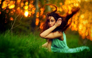Brunette in the Sun wallpapers and stock photos