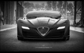 2012 Ugur Sahin Design Alfa Romeo 12C GTS Black Front wallpapers and stock photos