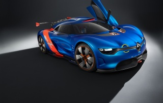2012 Renault Alpine A110-50 Concept Studio Side Angle wallpapers and stock photos