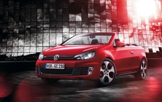 2012 Volkswagen Golf GTI Cabriolet Front Angle wallpapers and stock photos