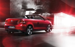 2012 Volkswagen Golf GTI Cabriolet Rear and Side wallpapers and stock photos
