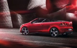 2012 Volkswagen Golf GTI Cabriolet Side wallpapers and stock photos