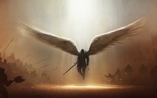 Archangel Tyrael wallpapers and stock photos