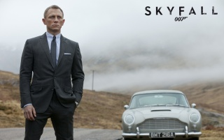 James Bond Skyfall 007 Aston Martin wallpapers and stock photos