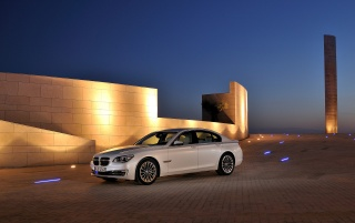 Random: 2012 BMW 7 Series Static Front Side Angle Night