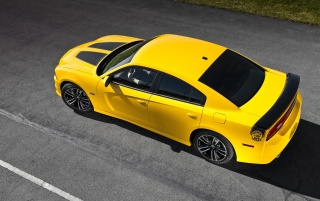 Yellow Superbee Dodge Charger wallpapers and stock photos