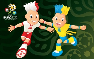 Euro 2012 Mascots wallpapers and stock photos