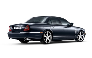 Jaguar XJR rear wallpapers and stock photos