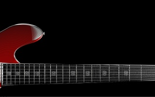 Random: zoom red guitar