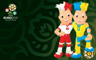 UEFA Euro 2012 Poland & Ukraine Mascots Static Green wallpapers and stock photos