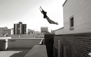 American Parkour Black and White wallpapers and stock photos