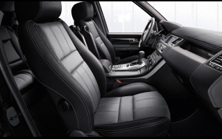 2013 Land Rover Range Rover Sport Negro Interior wallpapers and stock photos