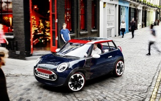 2012 Mini Rocketman Concept Static Side Angle wallpapers and stock photos