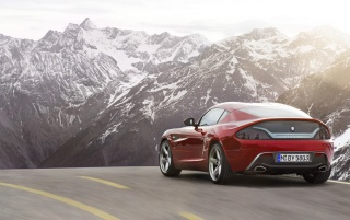 2012 BMW Zagato Coupe Motion Rear wallpapers and stock photos