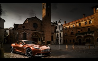 2013 Aston Martin Vanquish Motion Front Angle Static wallpapers and stock photos