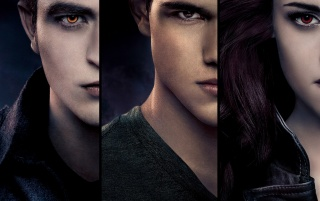 Breaking Dawn Part 2: Bella, Edward and Jacob wallpapers and stock photos
