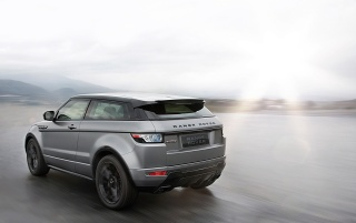 2012 Range Rover Evoque Special Edition with Victoria Beckham Rear Angle Speed wallpapers and stock photos