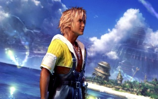 Tidus at Besaid wallpapers and stock photos