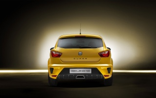 Seat Ibiza Cupra Yellow Rear wallpapers and stock photos
