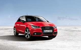 2012 Red Audi A1 verstärkt Statische vorne wallpapers and stock photos
