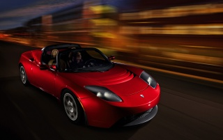 Tesla Roadster wallpapers and stock photos