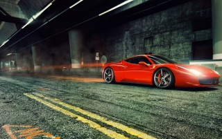 Red Ferrari 458 Italia wallpapers and stock photos