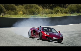 2013 McLaren MP4 12C Spider Motion Drift wallpapers and stock photos