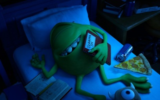 Mike Sleeping - Monsters University wallpapers and stock photos