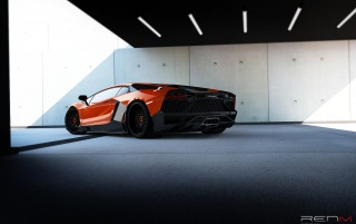 2012 RENM Lamborghini Aventador Limited Edition Corsa Static Rear Angle wallpapers and stock photos