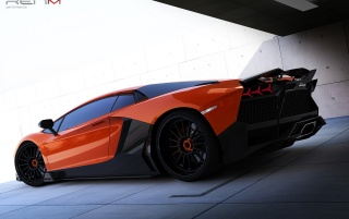 Random: 2012 RENM Lamborghini Aventador Limited Edition Corsa Static Side Rear Angle