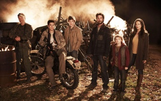 Falling Skies Cast wallpapers and stock photos