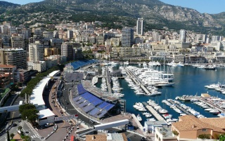 Monte Carlo Aerial View wallpapers and stock photos