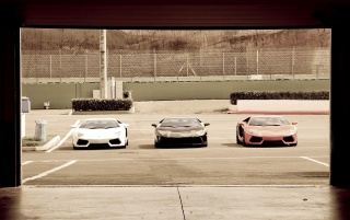 Lamborghini Trio wallpapers and stock photos