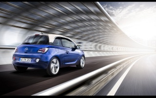2013 Opel ADAM Blue Rear Speed wallpapers and stock photos
