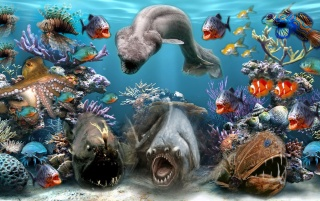 Sea Creatures wallpapers and stock photos