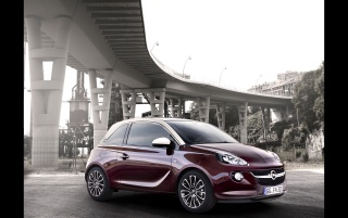 Random: Opel Adam Dark Red Static