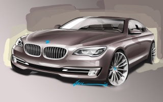 Random: 2012 BMW 7 Series Design Sketch