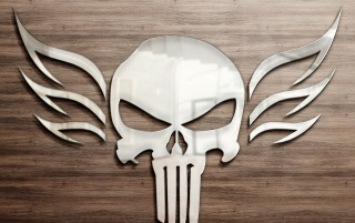 Reflective Metal Skull wallpapers and stock photos