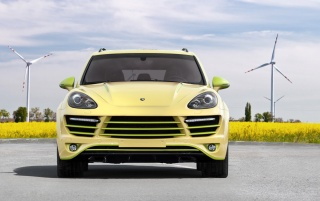 2012 TopCar Porsche Cayenne Vantage 2 Lemon Front wallpapers and stock photos