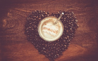 Coffee Heart wallpapers and stock photos