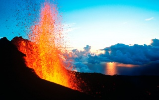 Volcano Erruption wallpapers and stock photos