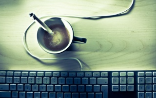 Random: Coffee and Keyboard