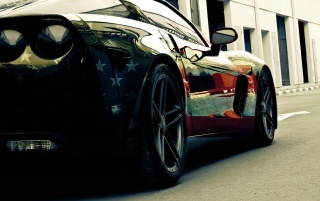 American Flag Corvette Section wallpapers and stock photos