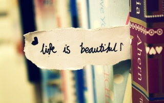 Life is Beautiful Bookmark wallpapers and stock photos