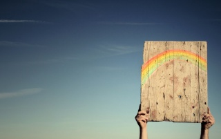 Rainbow Board wallpapers and stock photos