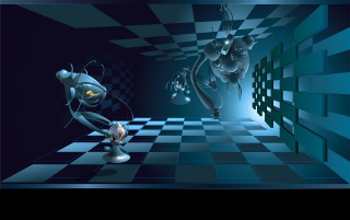 Schach wallpapers space chess wallpapers and stock photos voltagebd Gallery