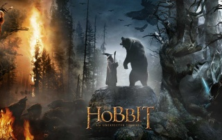 Der Hobbit: Gandalf und Bär wallpapers and stock photos